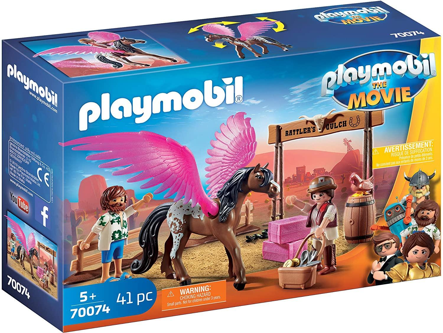 Playmobil 70074 The Movie Marla and Del with flying Horse Toymaster Ballina