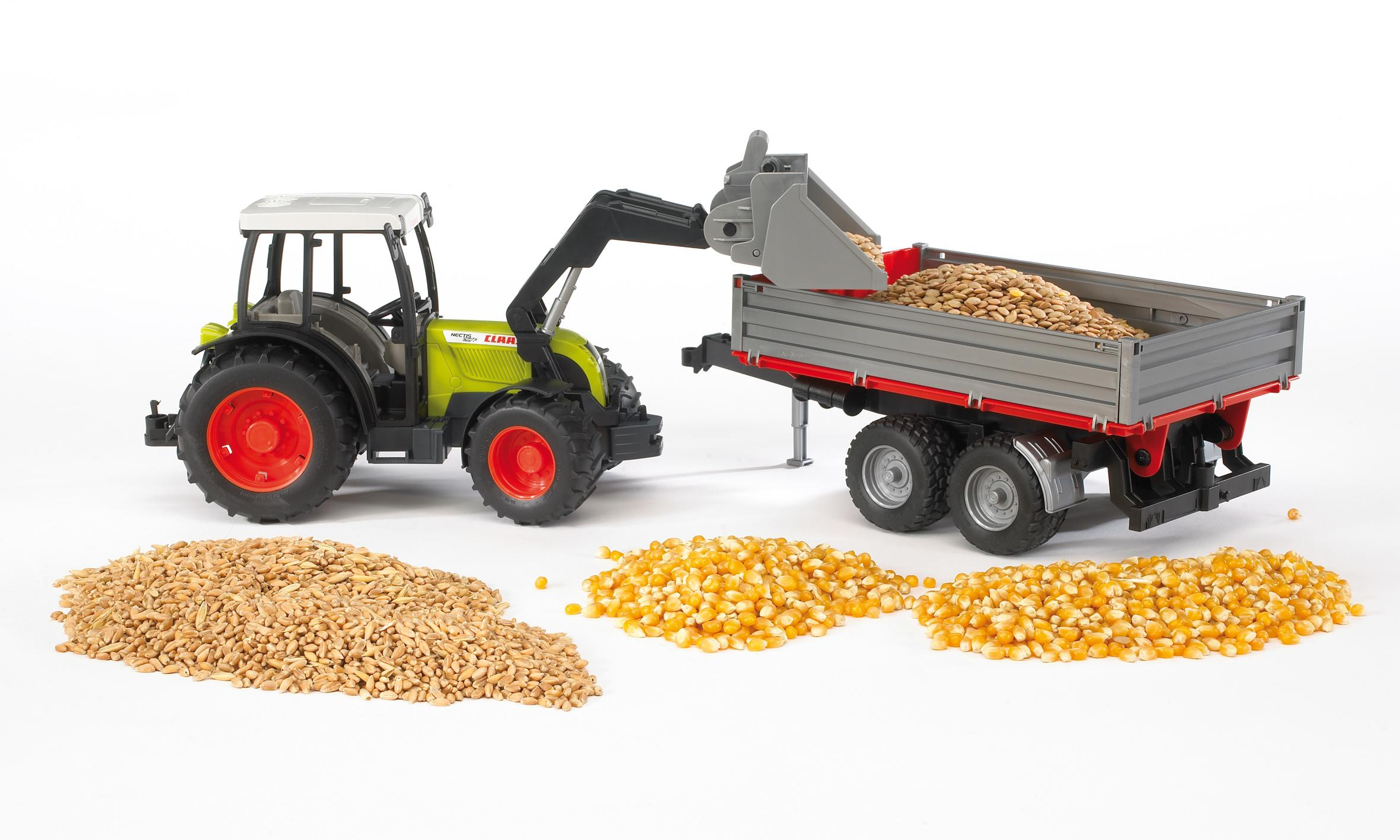 Bruder 02112 Claas Nectis With Tipping Trailer Toymaster Ballina