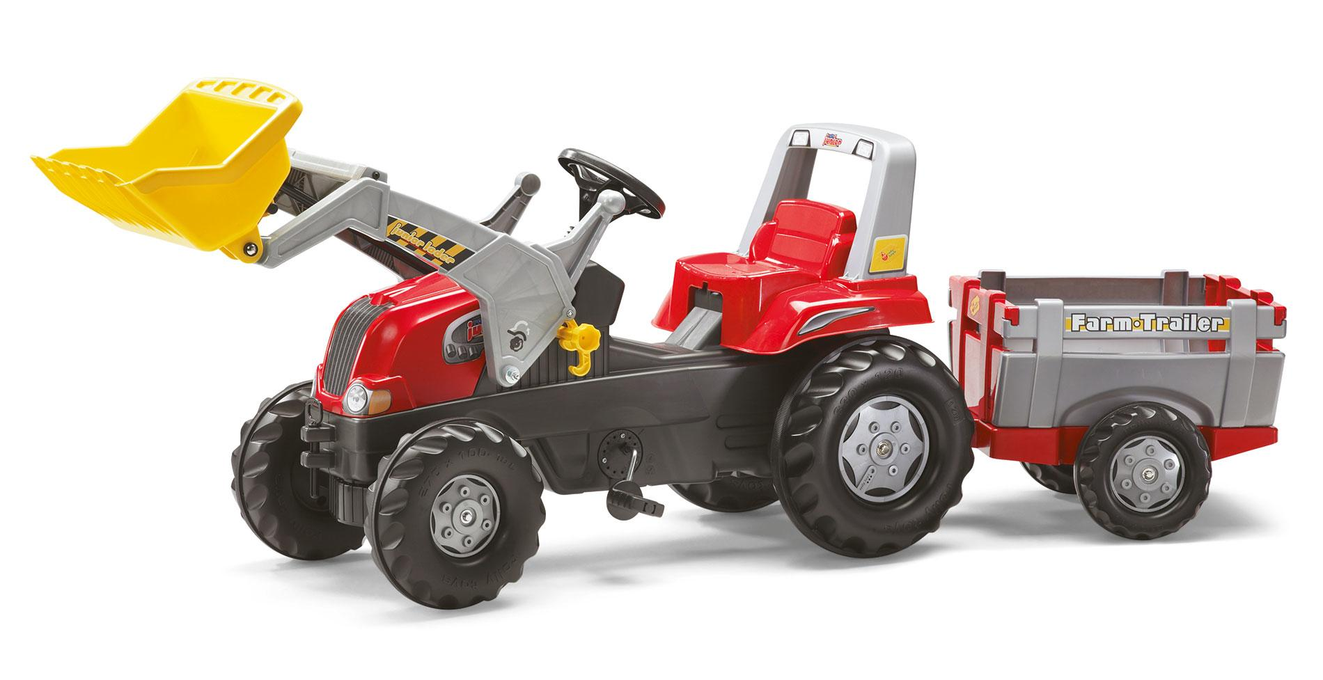Rolly Junior Red Tractor, Trailer And Loader Toymaster Ballina