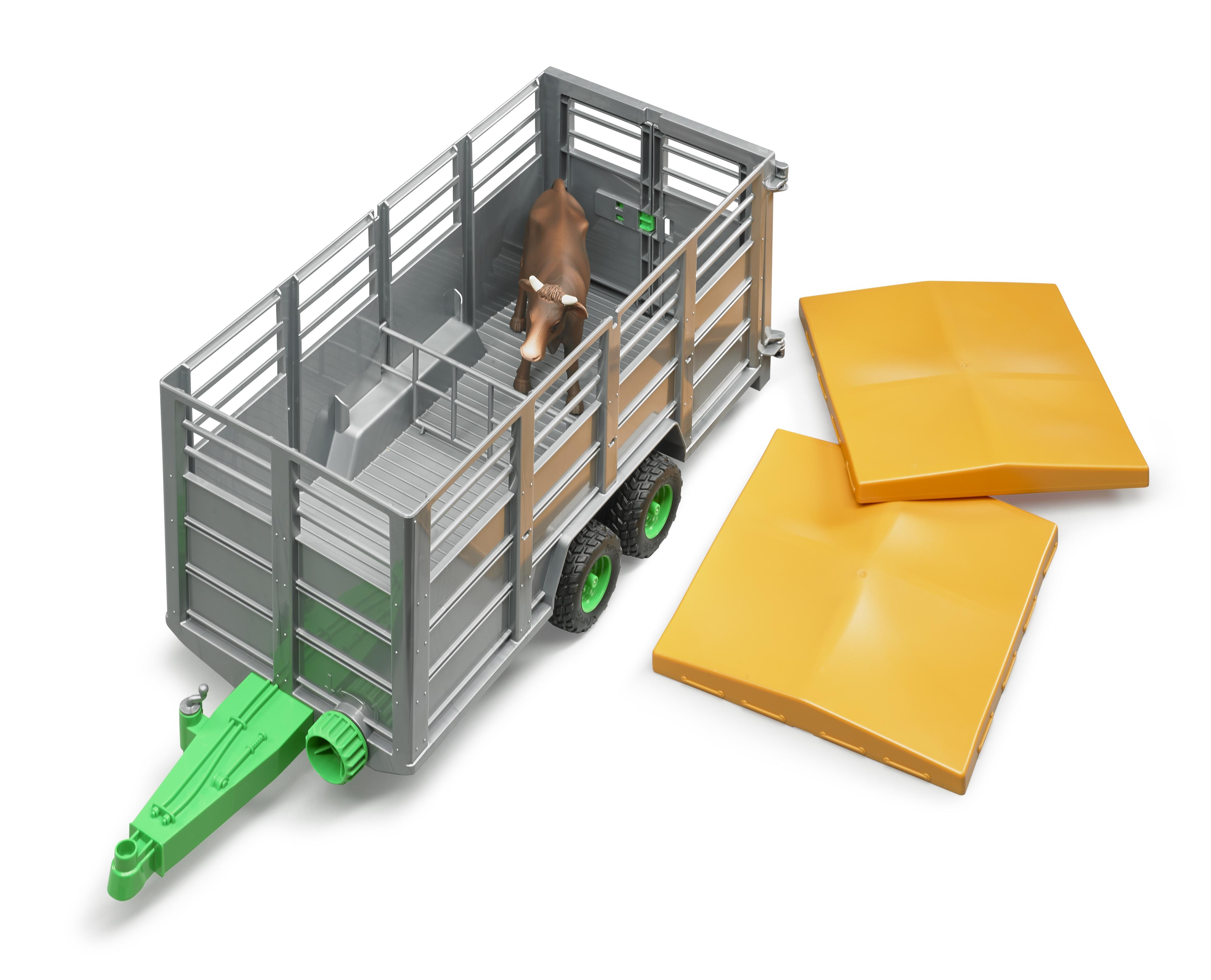 Bruder 02227 Livestock Trailer And Cow Toymaster Ballina