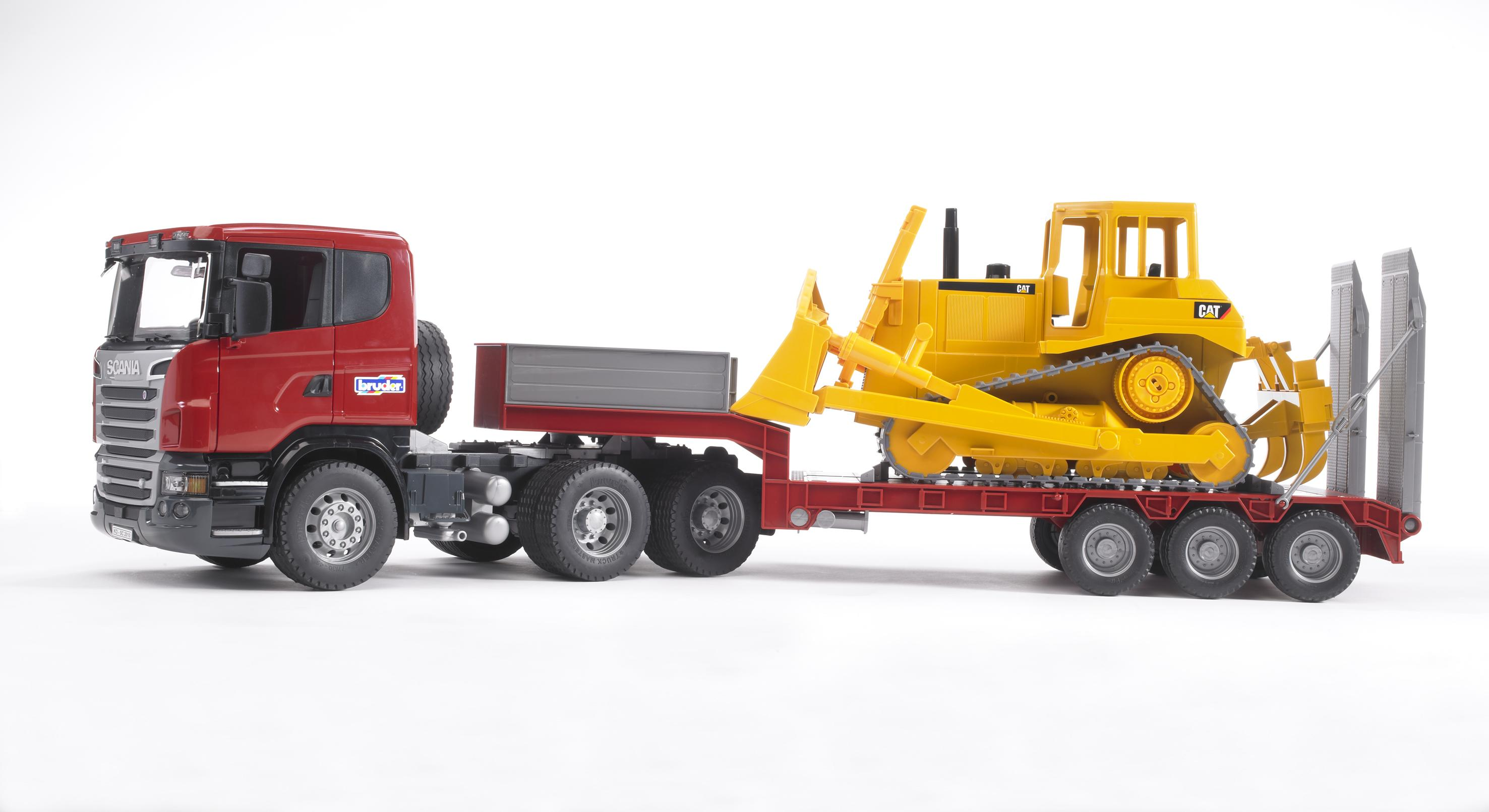 Bruder 03555 Scania Low Loader With Bulldozer Toymaster Ballina