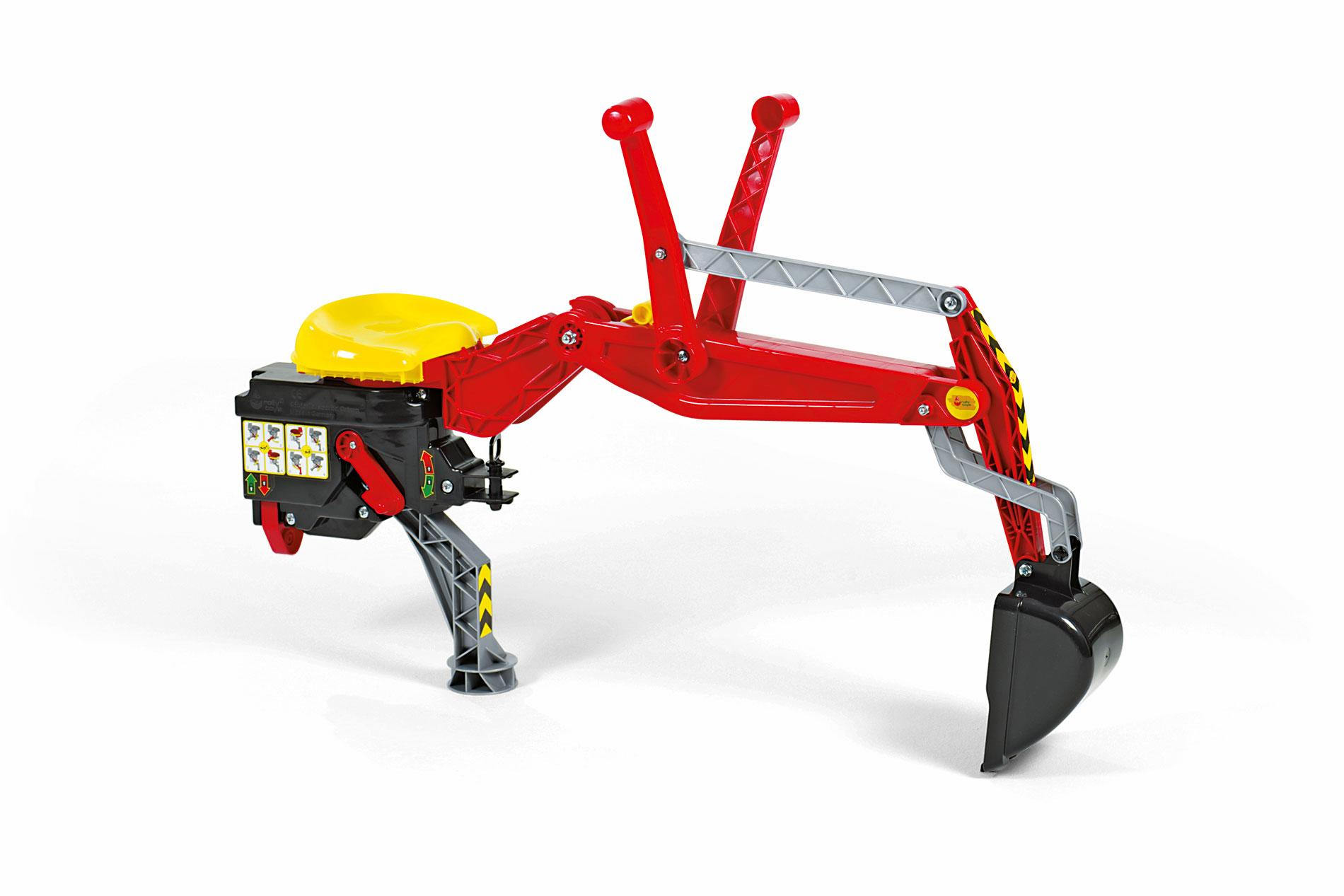 Rolly Backhoe Digger Red Toymaster Ballina