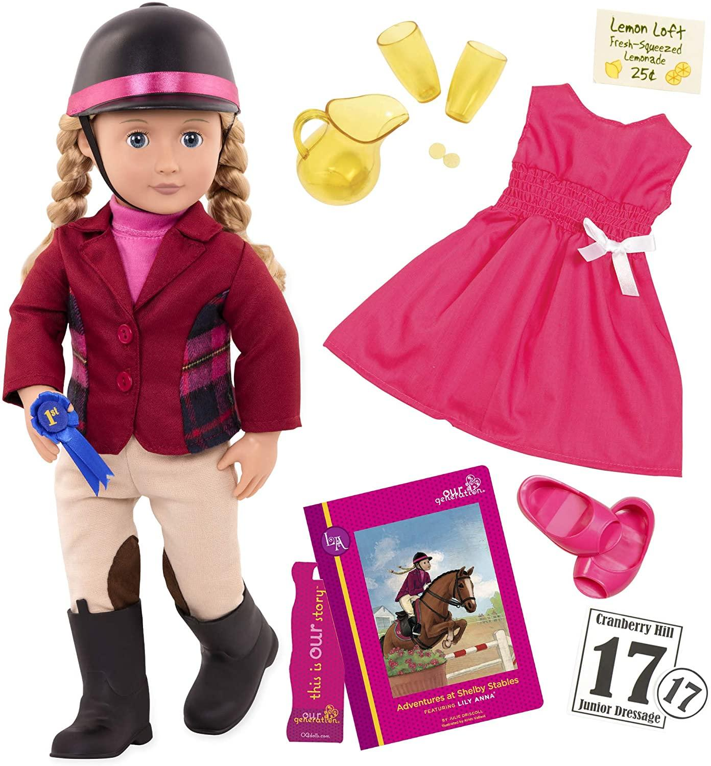 Our Generation Lilly Anna Deluxe Doll With Book Toymaster Ballina