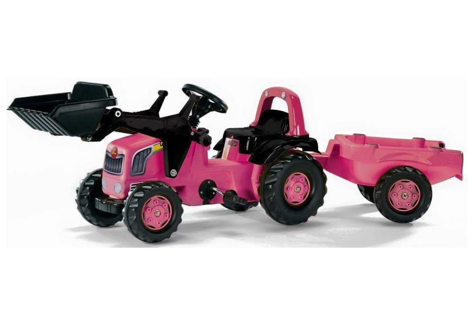 Rolly Kid Pink Tractor, Trailer and Loader Toymaster Ballina