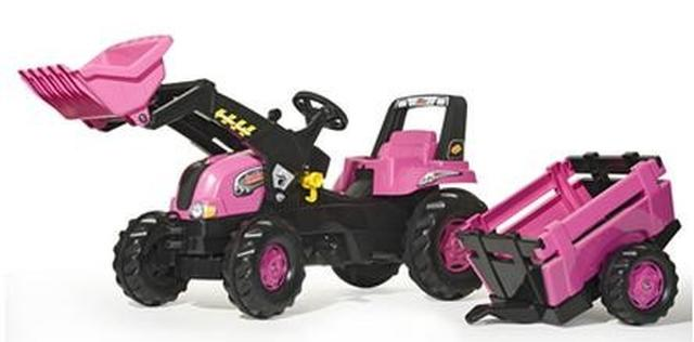 Rolly Junior Pink Tractor, Trailer And Loader Toymaster Ballina