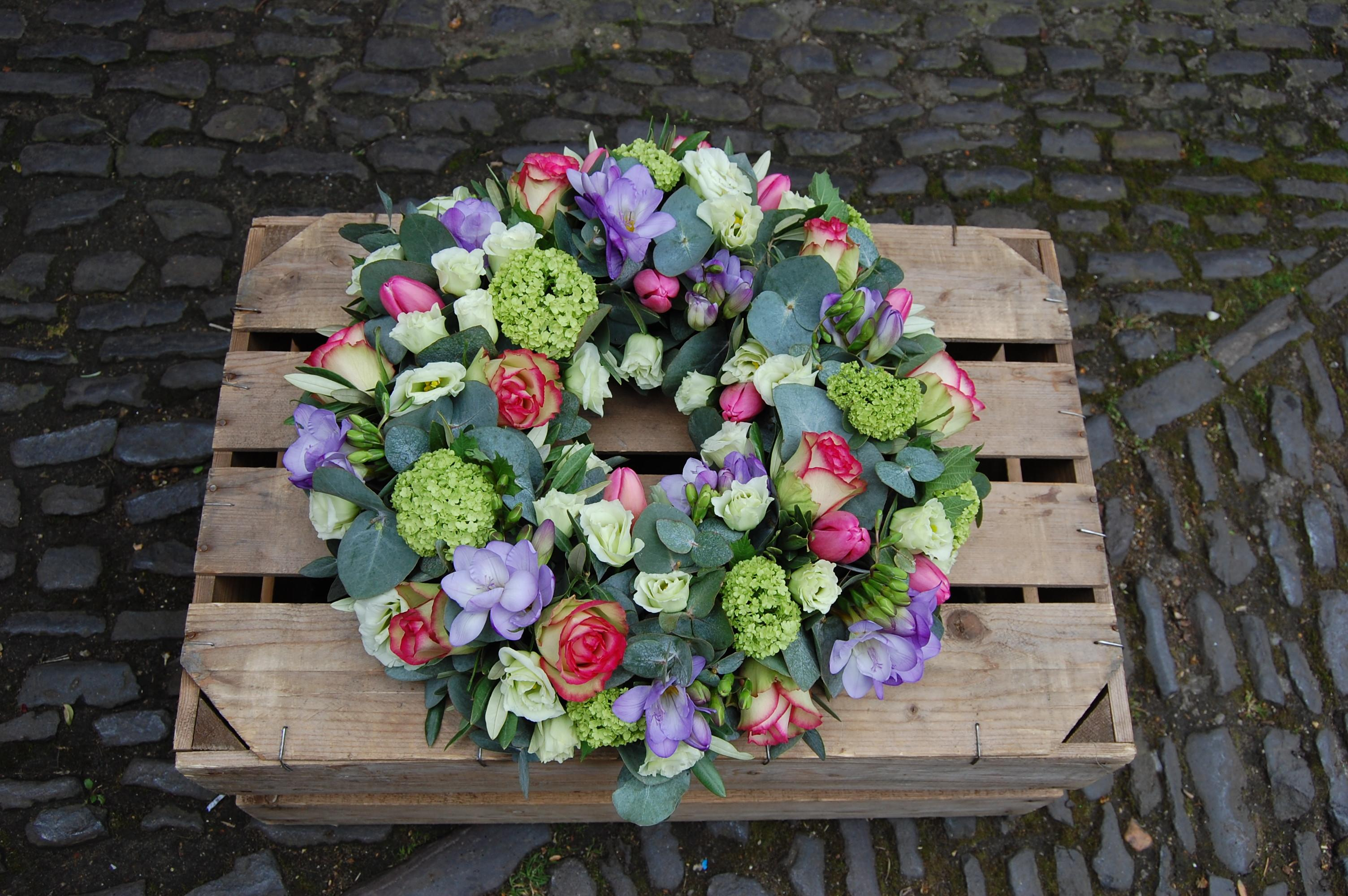 Pink and Lilac Natural Wreath