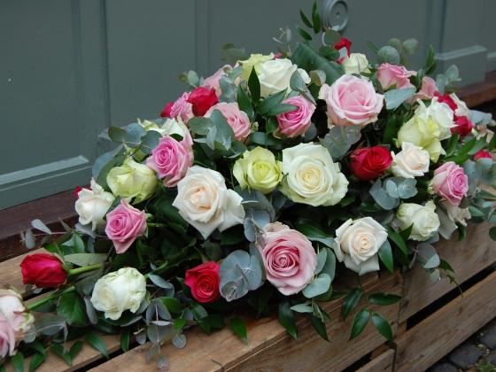 Mixed Rose Casket - Double Ended Spray