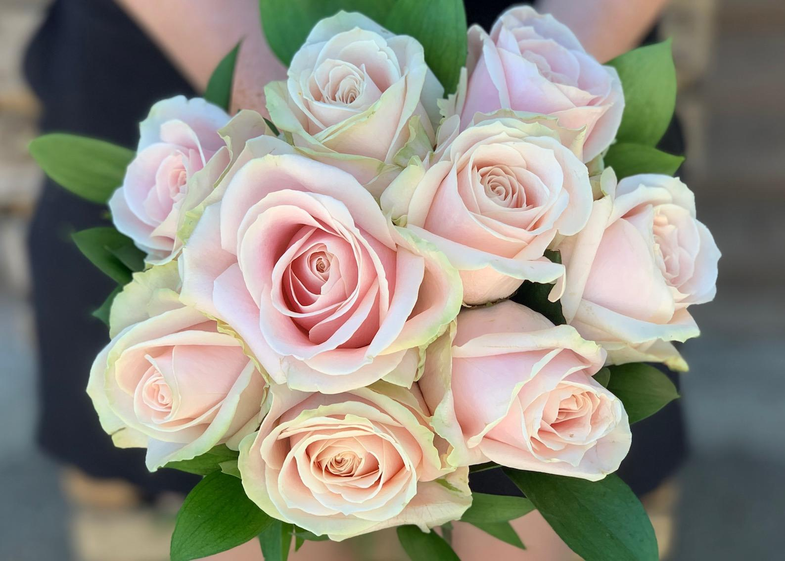 Bridesmaids Pink Rose Bouquet