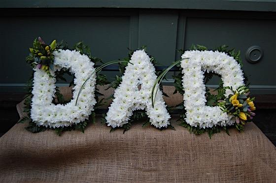Dad floral tribute