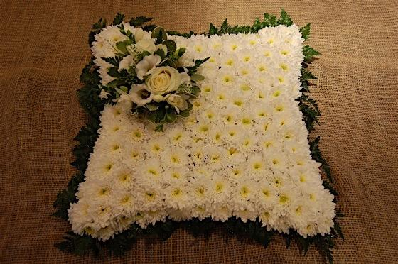 Traditional Cushion Funeral Flowers