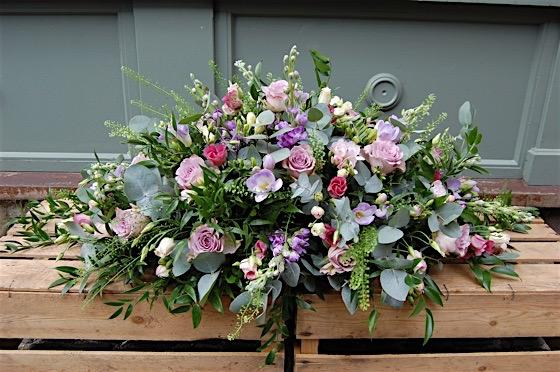 Country Garden Casket - Double Ended Spray