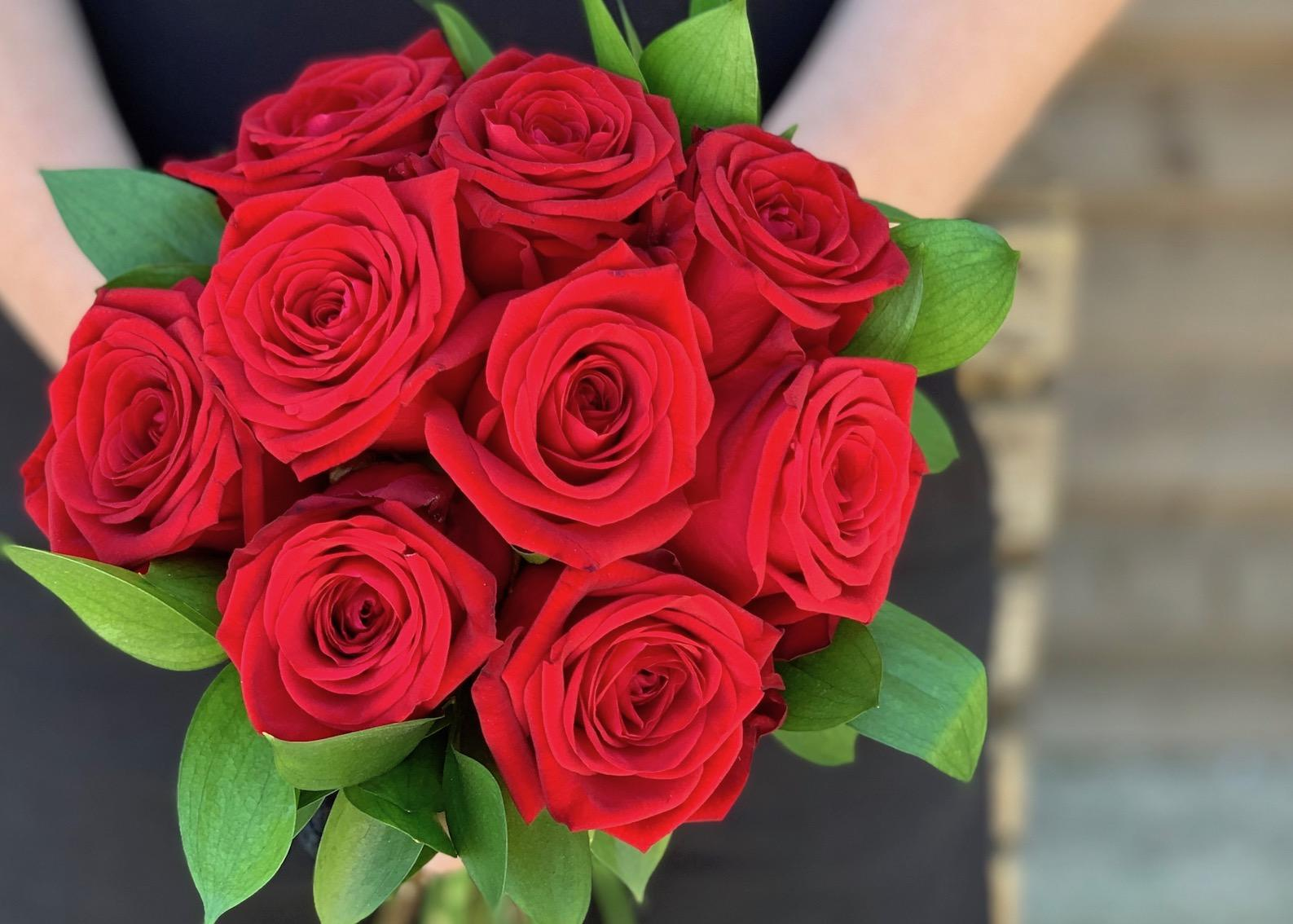 Bridesmaids Red Rose Bouquet