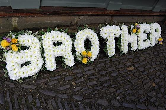 Brother floral tribute