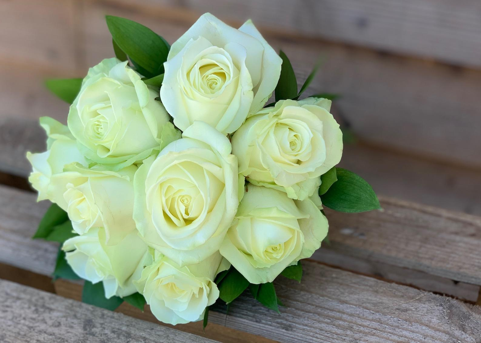 Bridesmaids Ivory Rose Bouquet