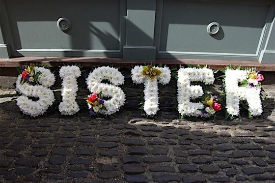 Sister floral tribute