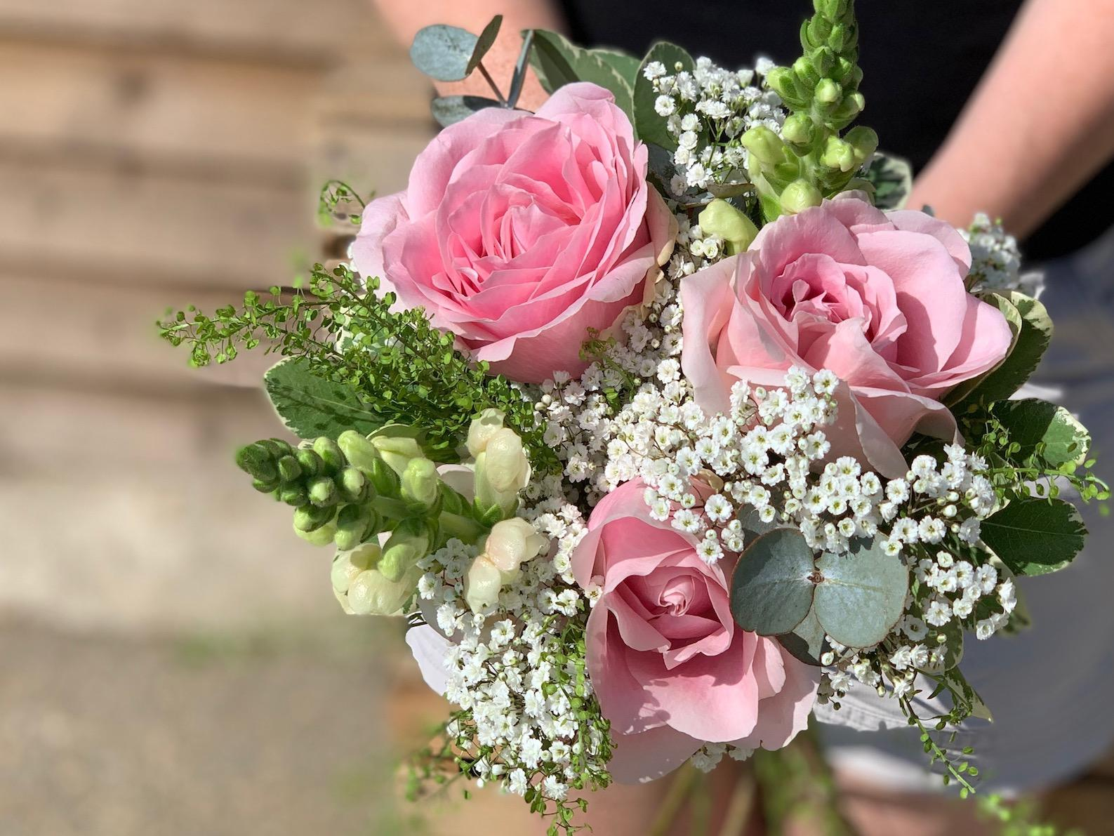Bridesmaids Pink and White Bouquet
