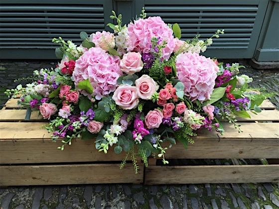Midsummer Flower Classic Casket - Double Ended Spray