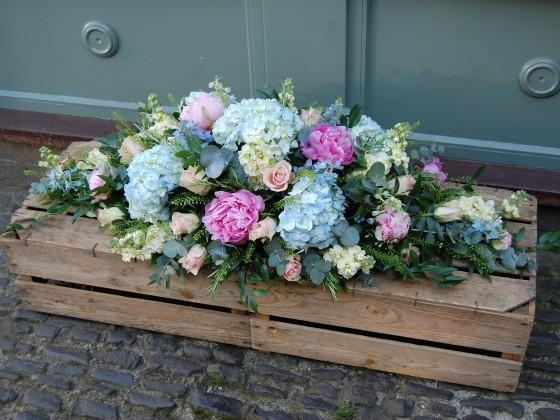 Pastel Summer Casket Flower Spray