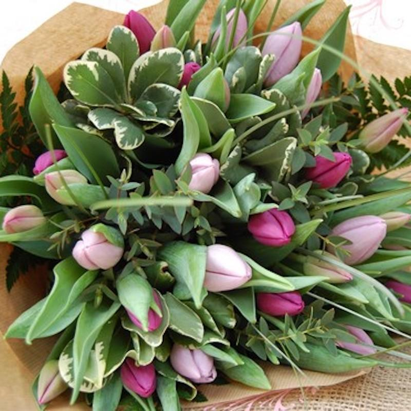 Pink & Purple Tulip Bouquet