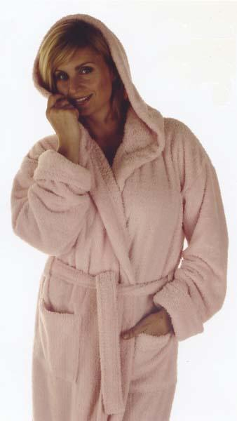 hooded robes, pink, supersoft, kimono robes, soft to feel, cosy to wear, dressing gowns