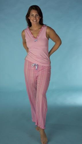 Ladies, Womens, Pyjamas, Nightshirts, Robes, Supersoft Dressing Gowns, Shorts, Chemises, White/Blue, Pink, White, Soft Blue Pointelle,