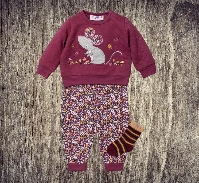 lily & jack mouse motif jumper and sweat pants