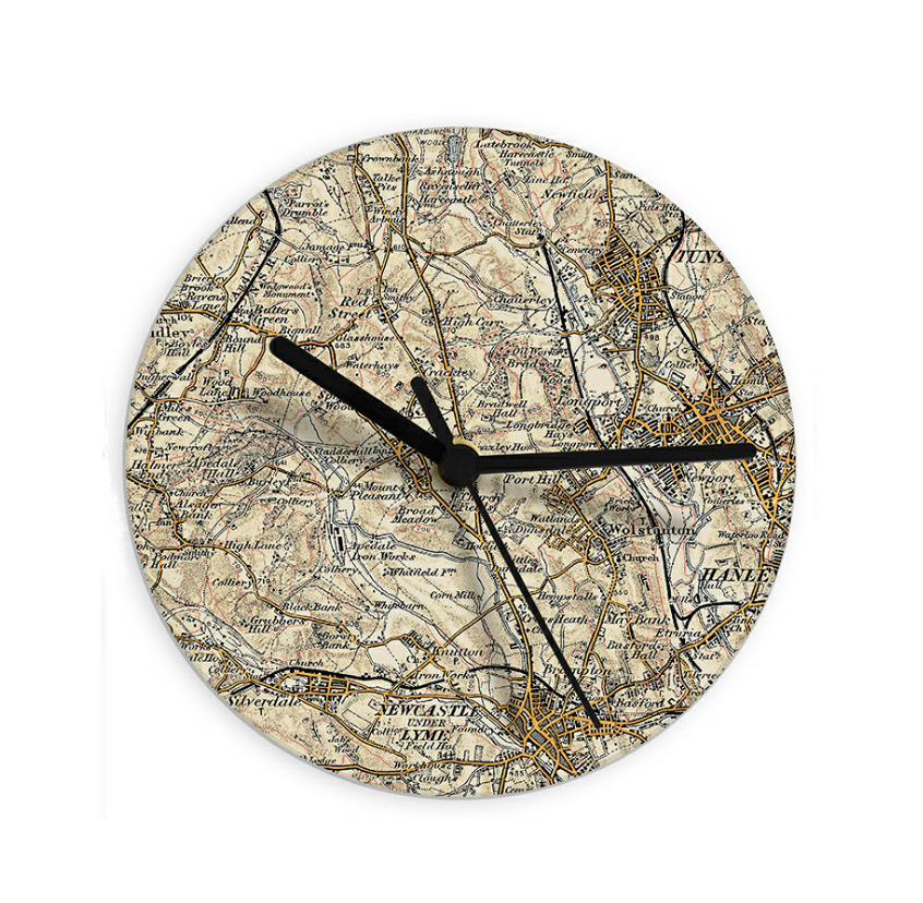 Personalised Glass Map Clock
