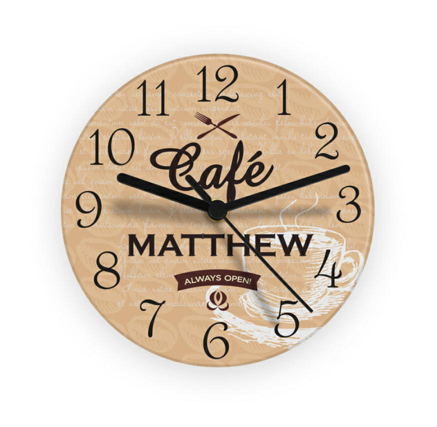 Personalised Glass Bistro Clock