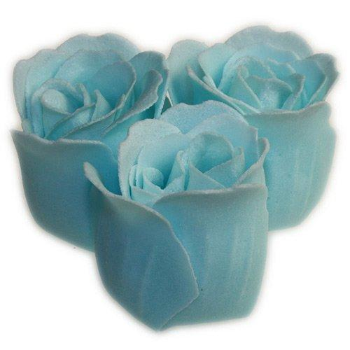Confetti soap roses in blue