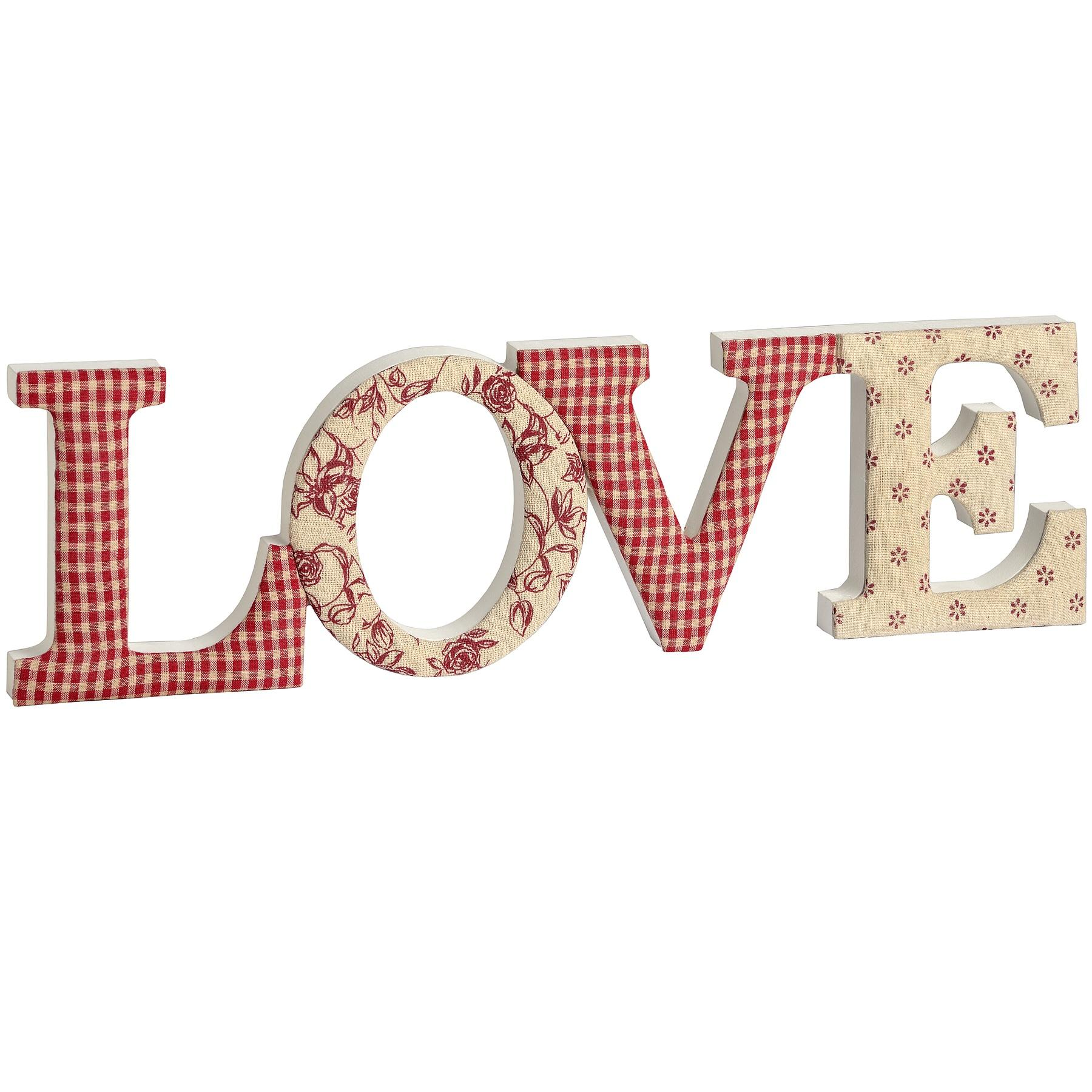 Fabric 'LOVE' Ornamental Letters