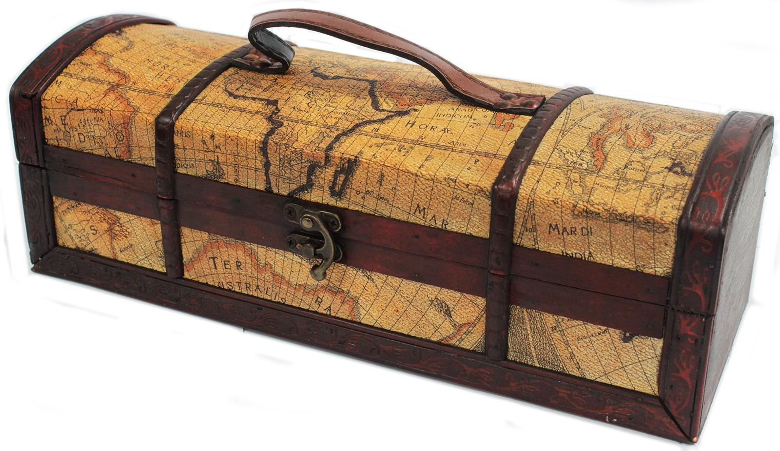 Old map wine box