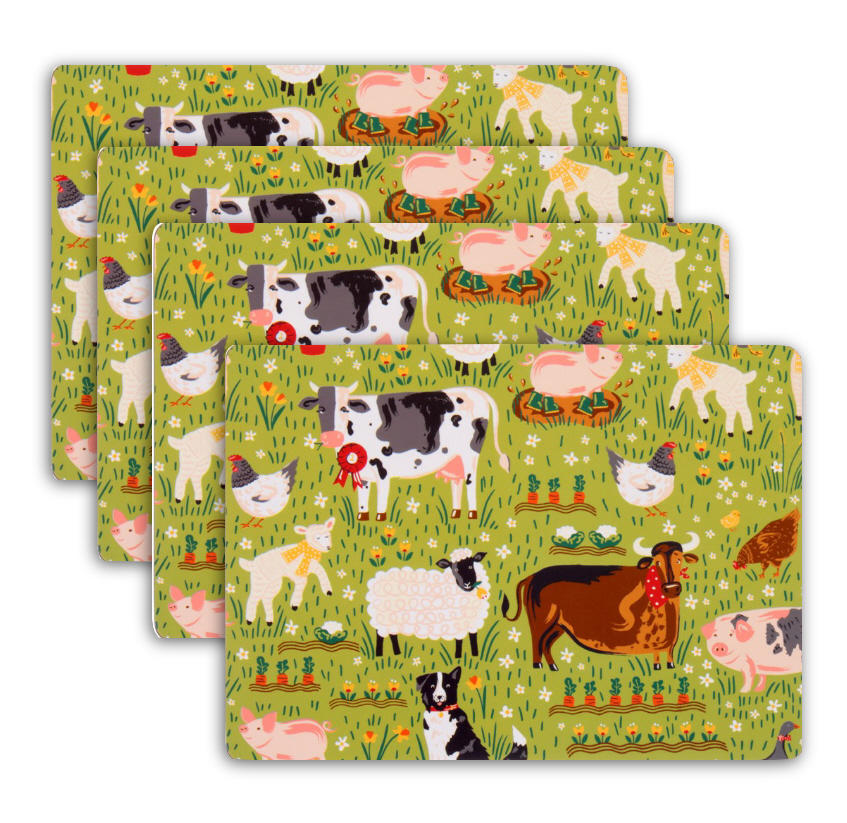 Jennie's Farm Set of Four Placemats