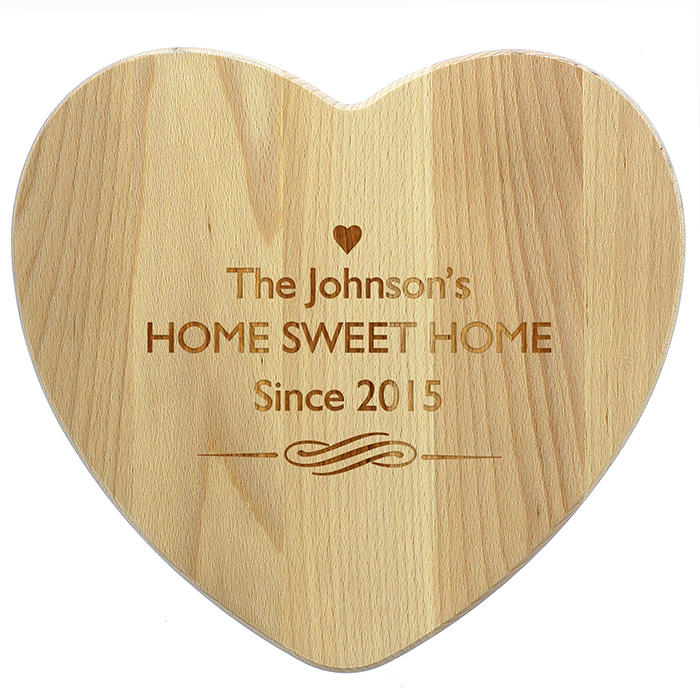 Heart Shaped Wooden Chopping Board (personalised)