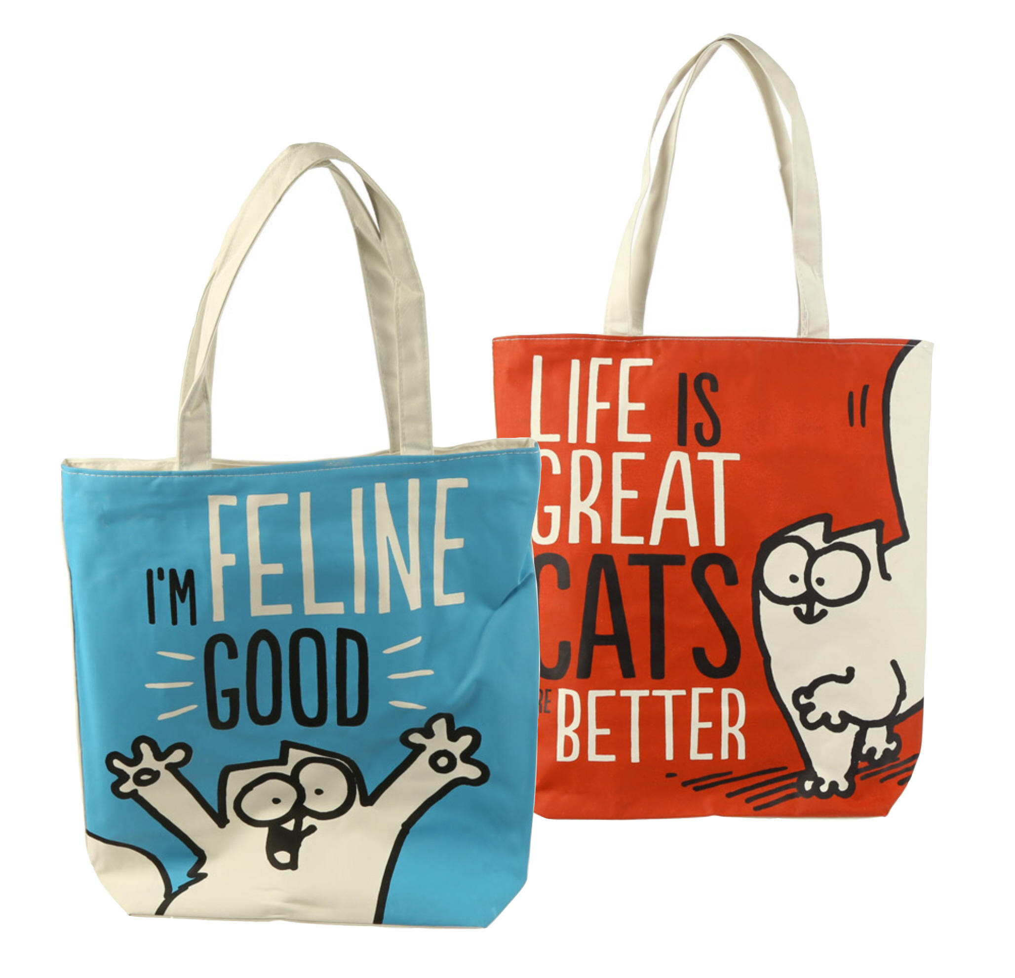 Simon's Cat Cotton Zip Up Shopping Bag