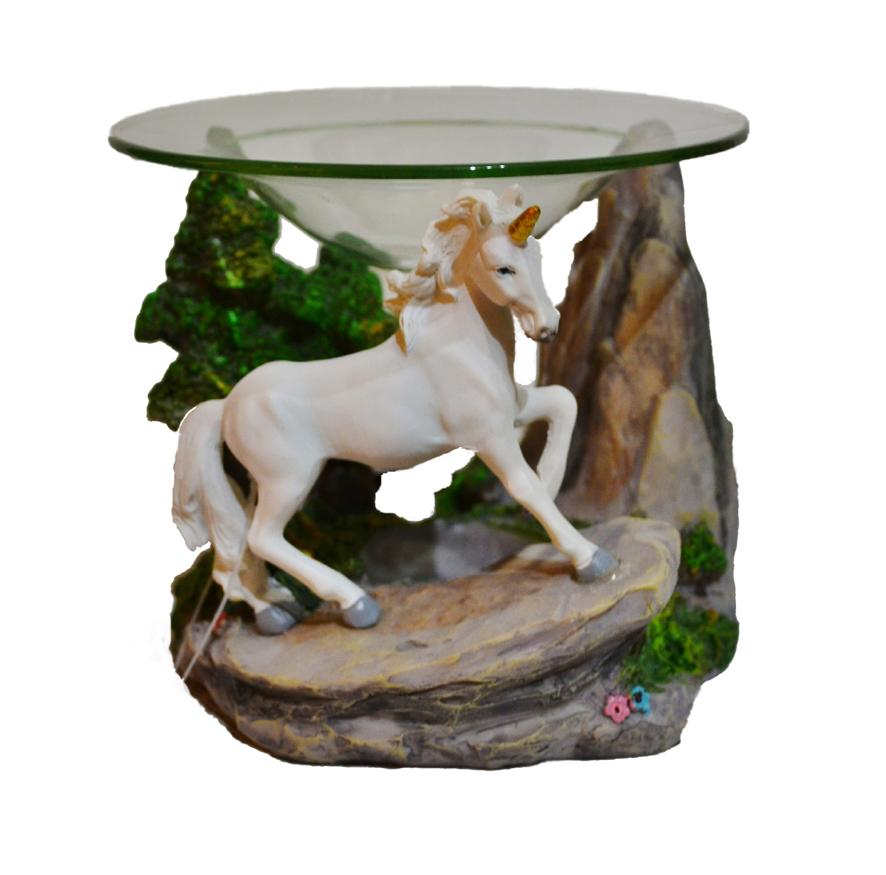 Unicorn designs oil burner with tree