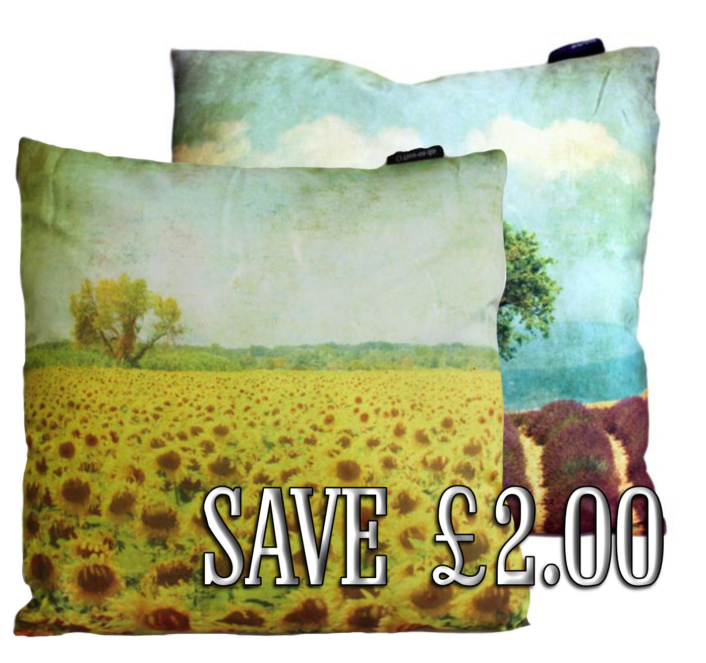 Pair of landscape Art  cushion covers