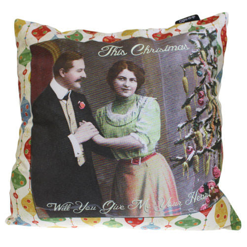 'This Christmas Will You Give Me Your Heart' cushion cover