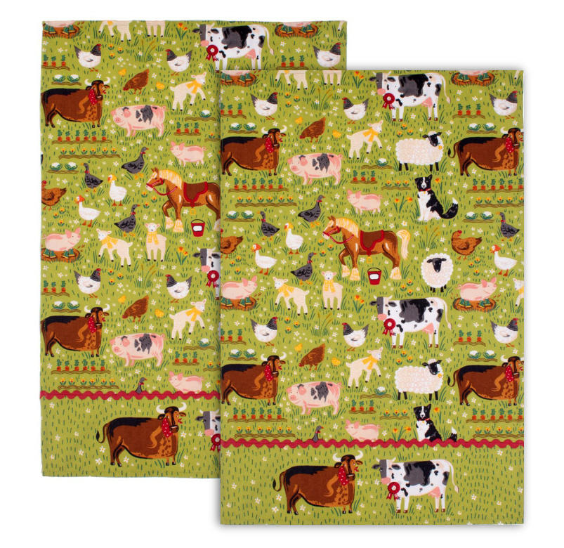 Jennie's Farm Pack of 2 Tea Towels