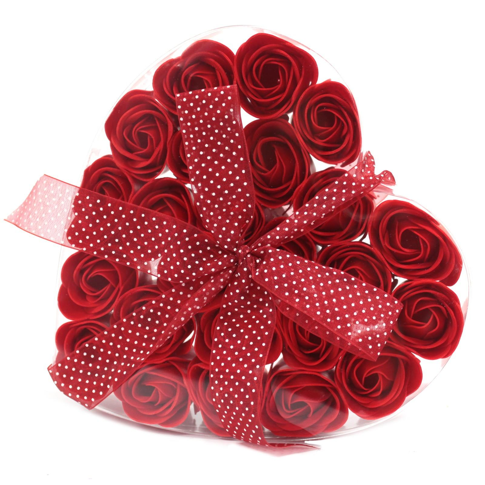 Red confetti soap rose gift box
