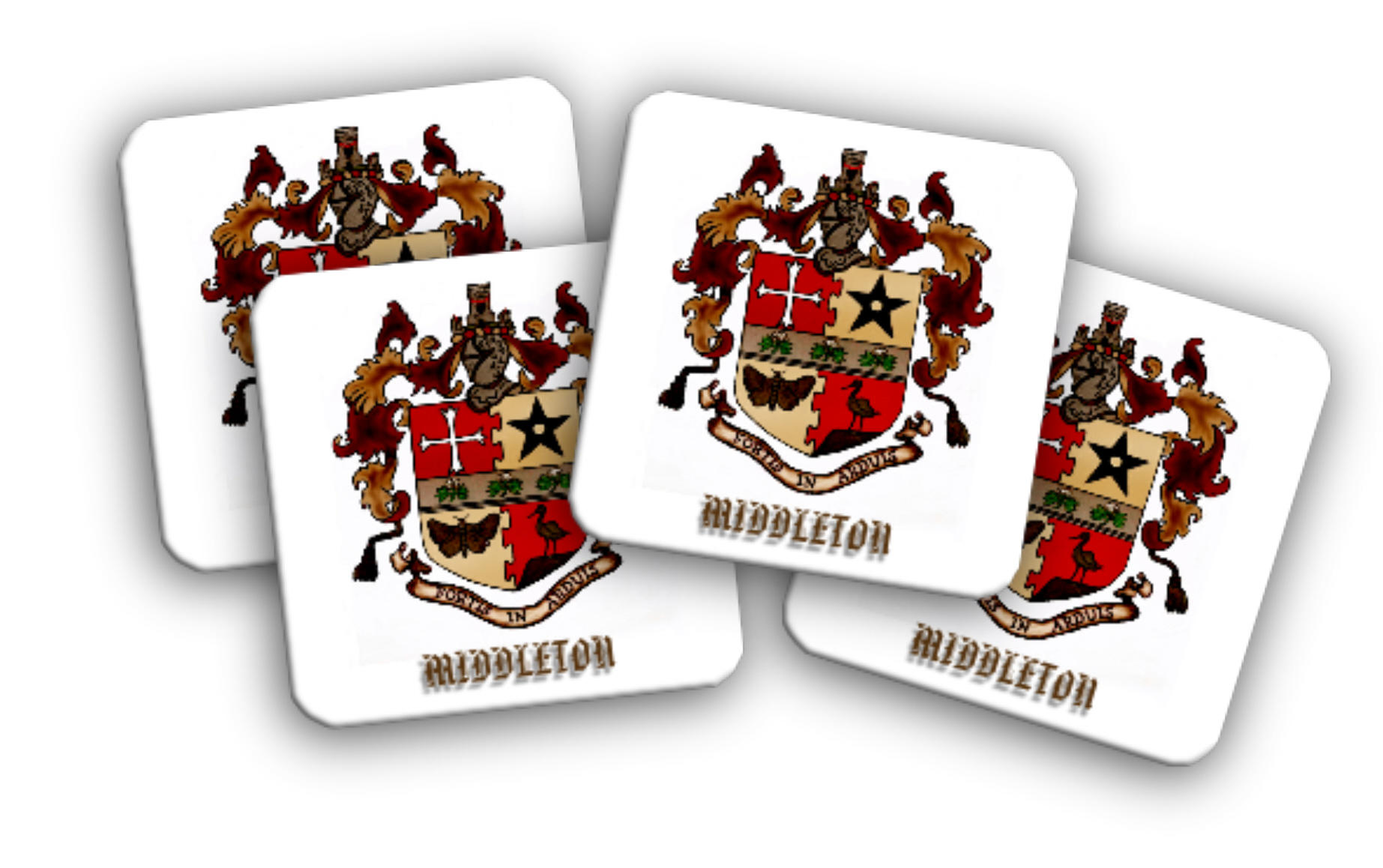 Middleton Coat of Arms Set of Four Coasters