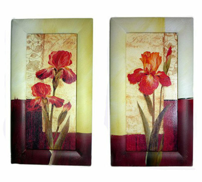 Set of Two Orchid Frame Art