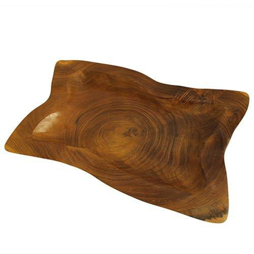 Square Plate Teak Root Bowl