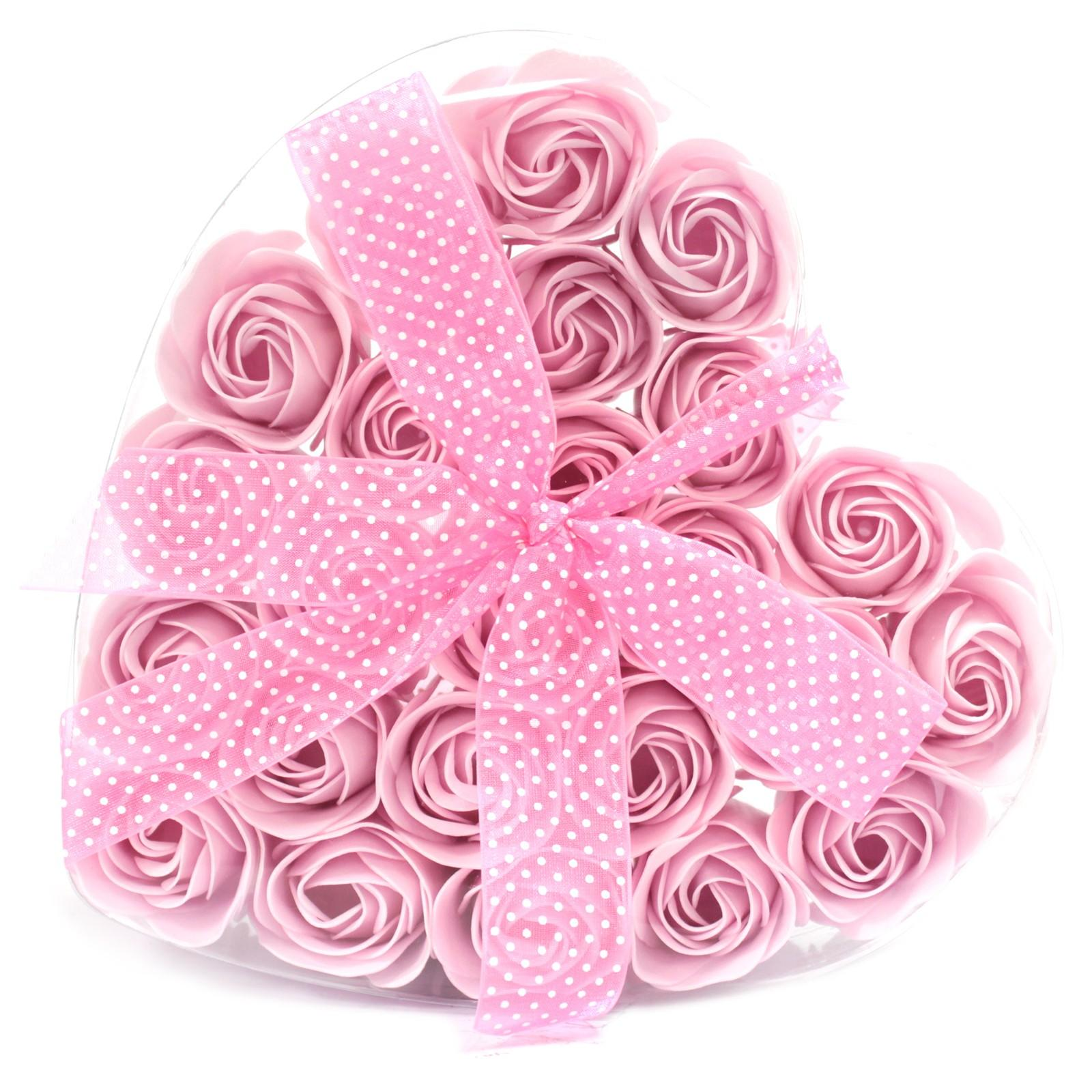 Pink confetti soap rose gift box