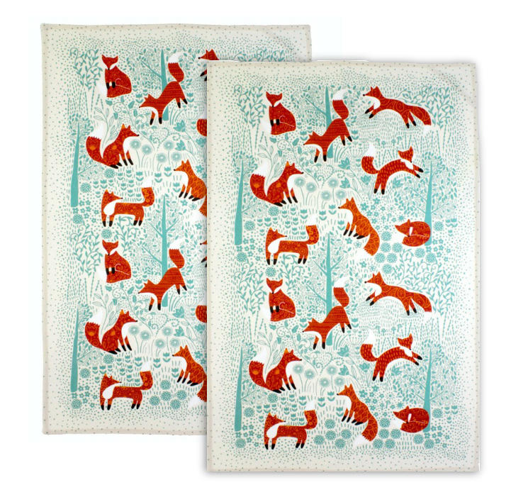 Foraging Fox Pack of 2 Tea Towels