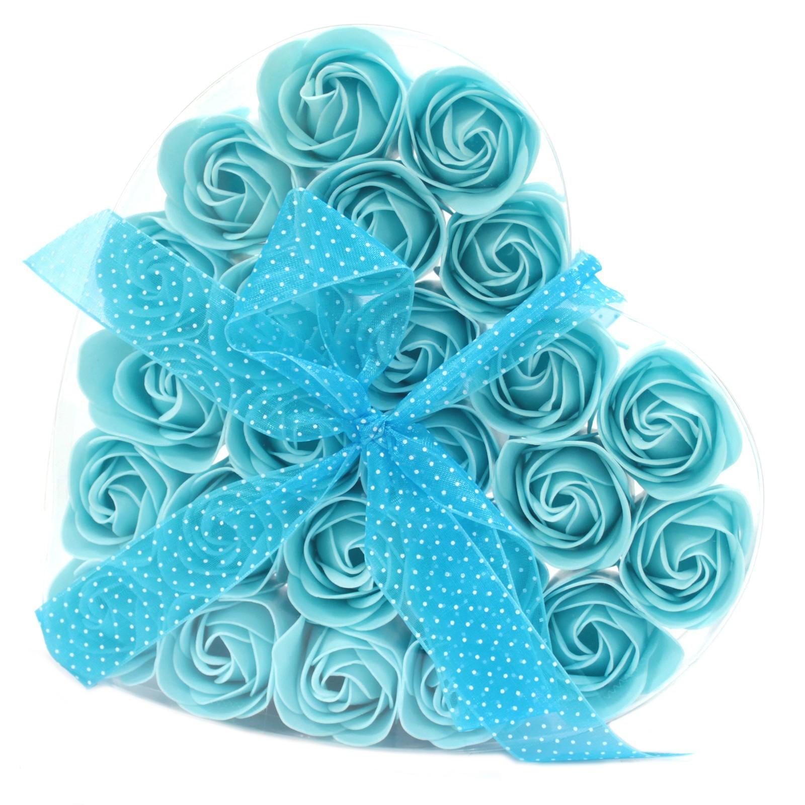 Blue confetti soap rose gift box