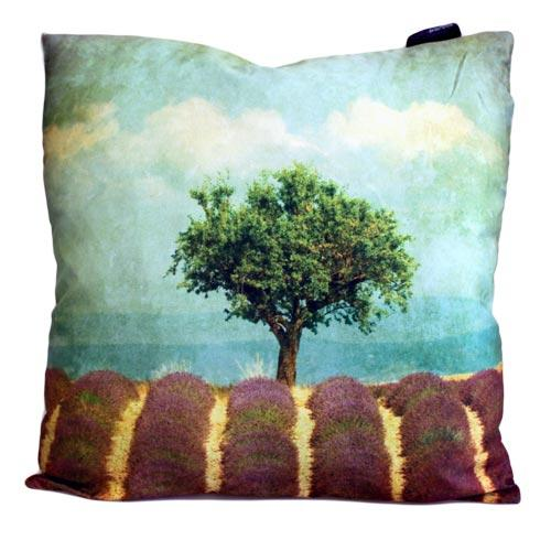 'Lavender Field' single cushion cover