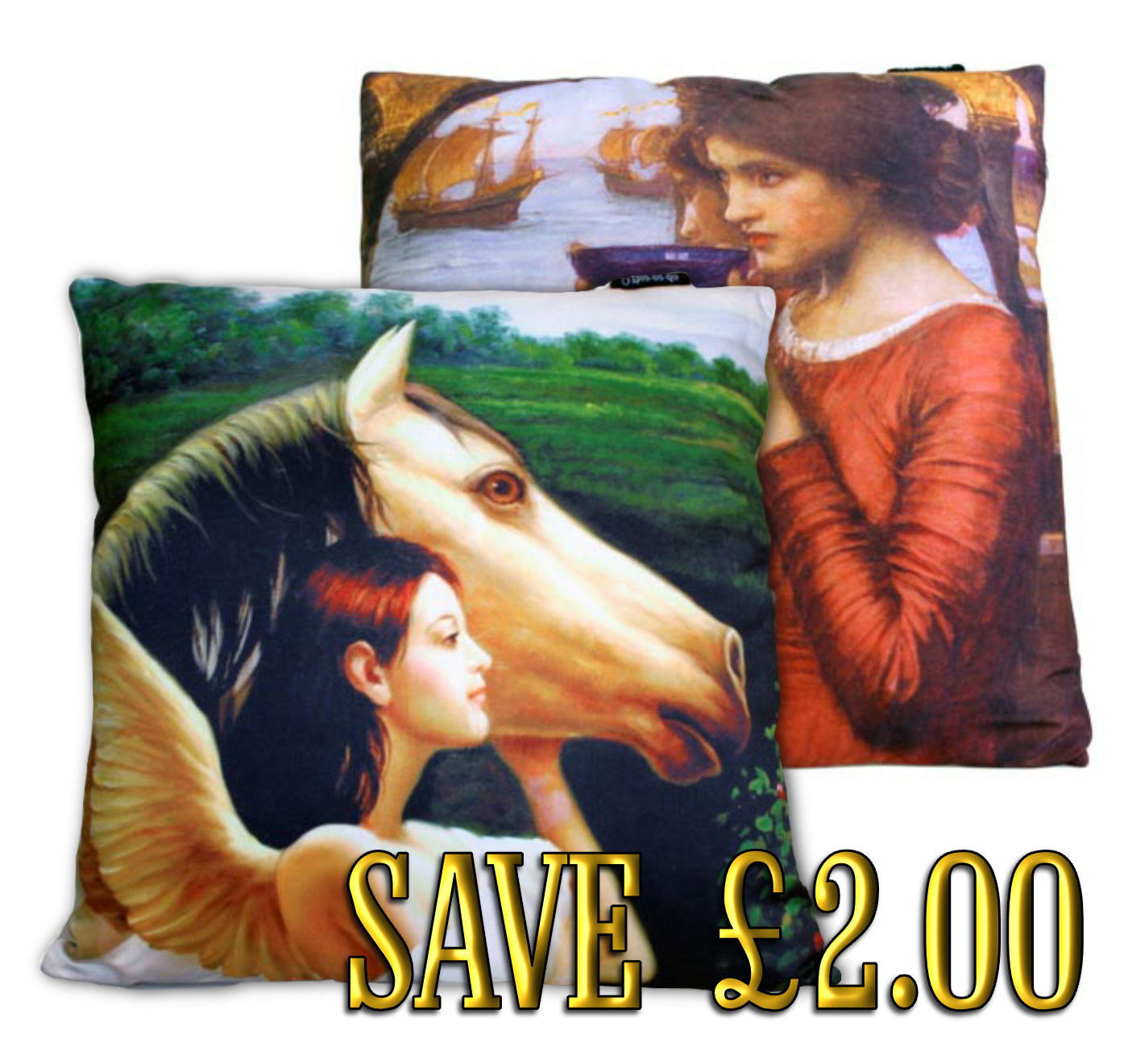 Pair of classic Art  cushion covers