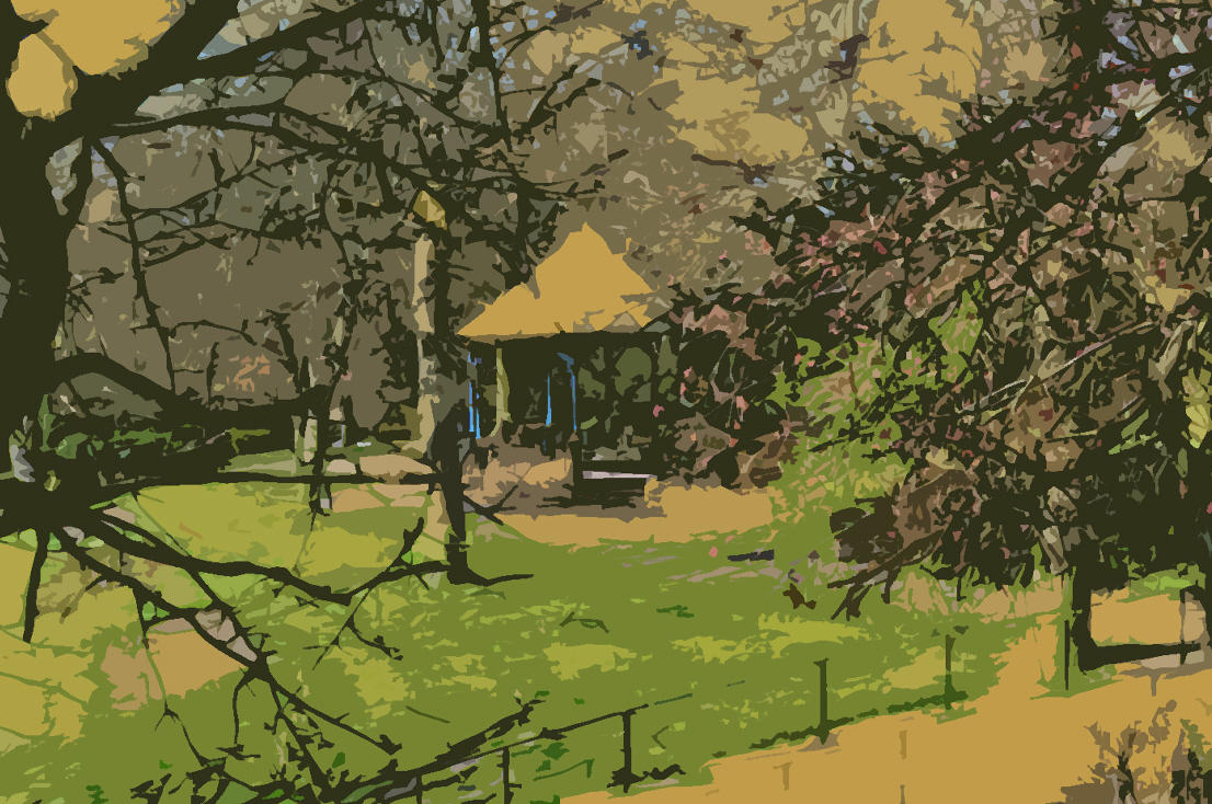 Jubilee Park Bandstand in Camouflage Canvas