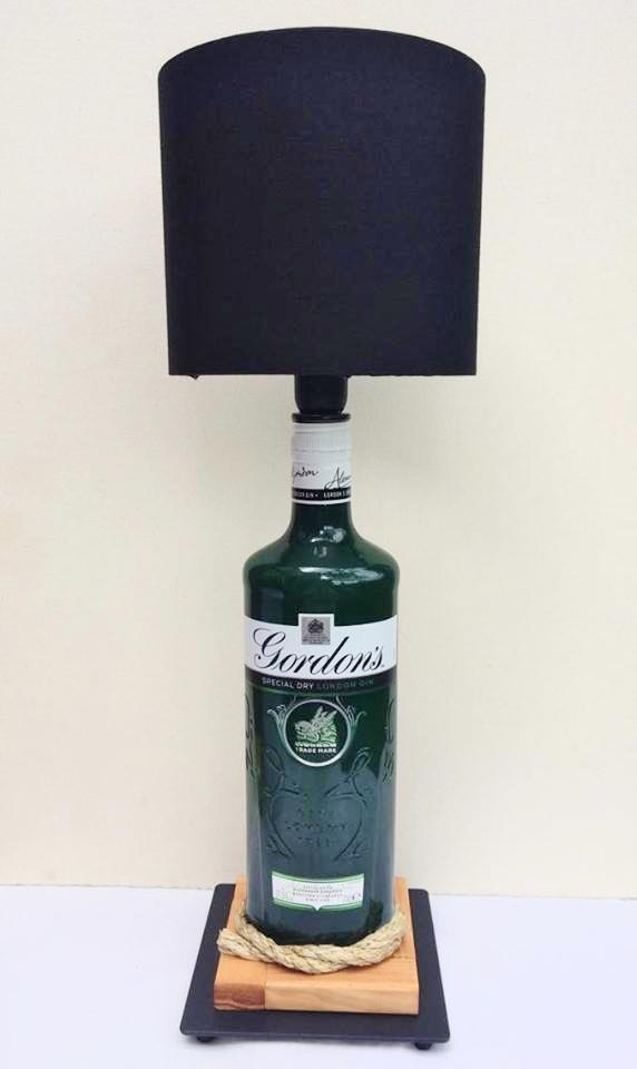 Gordon's Gin Table Lamp with black shade