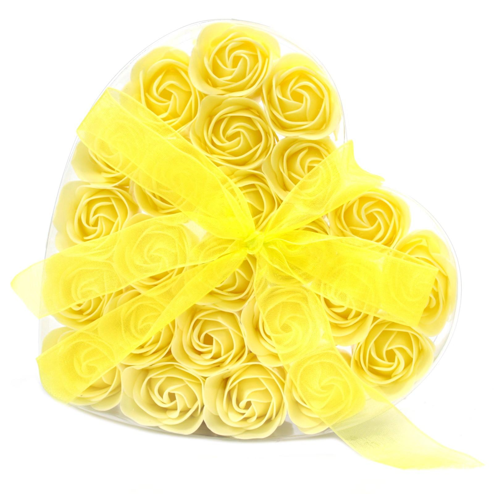 Yellow confetti soap rose gift box